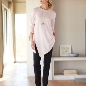 NWT purejill tencel asymmetrical tunic Size L
